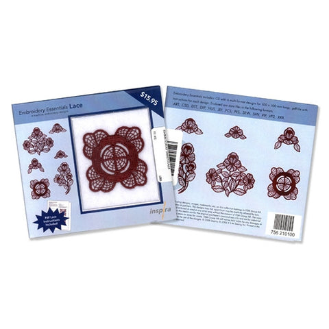 Inspira Embroidery Essentials Lace Design CD