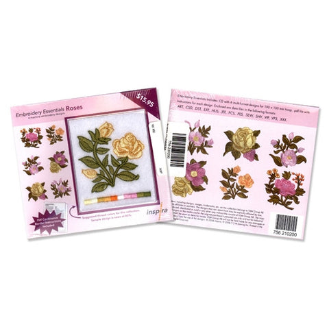 Inspira Embroidery Essentials Rose Design CD