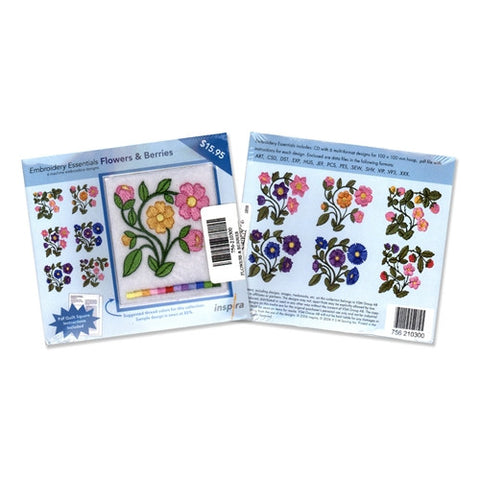 Inspira Embroidery Essentials Flowers & Berries CD