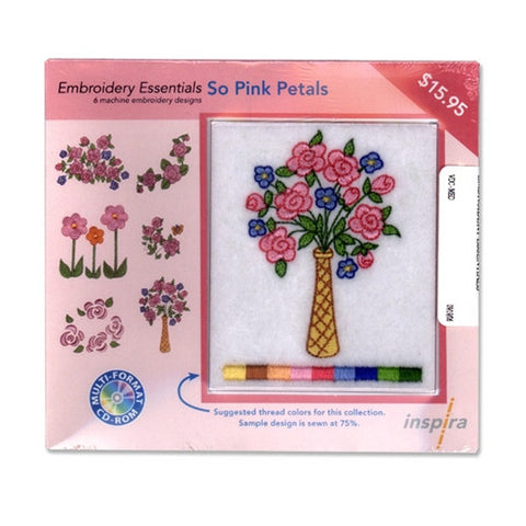 Inspira Embroidery Essentials So Pink Petals Design CD