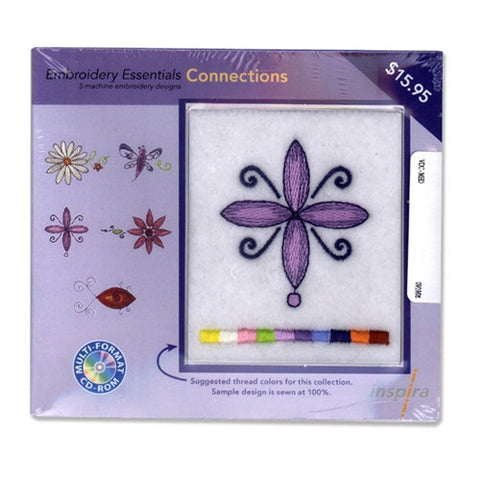 Inspira Embroidery Essentials Connections Design CD