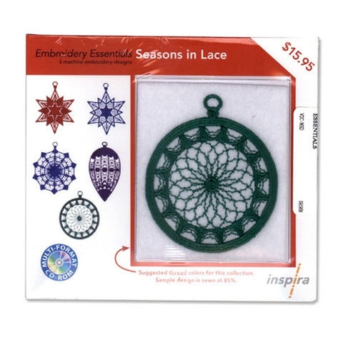 Inspira Embroidery Essentials Season Of Lace Design CD