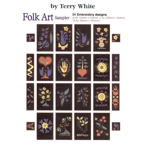 Folk Art Sampler Design CD by Inspira
