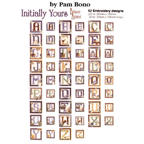 Initially Yours Baltimore Alphabet Design CD
