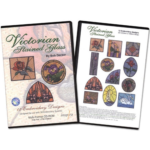 Victorian Stained Glass Design CD by Inspira