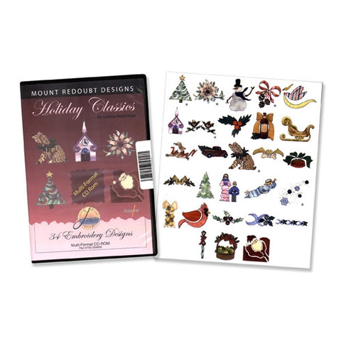 Holiday Classics Embroidery Design CD by Inspira