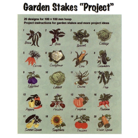 Inspira Garden Stakes Project Design CD by Inspira