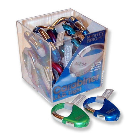 Carabiner LED Light with Snap-Link in a 24pc Cube
