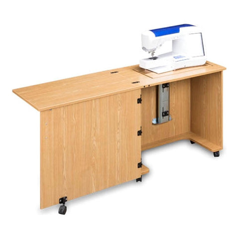 Compact Quality Sewing Machine Cabinet in Castle Oak