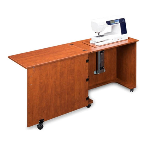 Compact Quality Sewing Machine Cabinet in Sunset Cherry