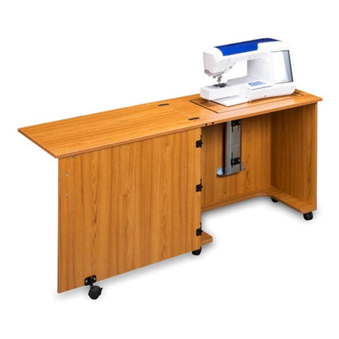 Compact Quality Sewing Machine Cabinet in Teak