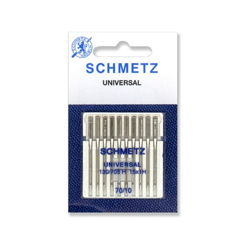 70/10 Schmetz Universal Needle in a Carded 10 Pack
