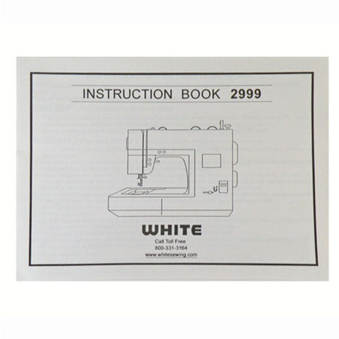 Instruction Book for White 2999