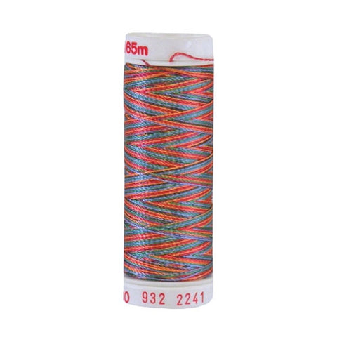 Sulky 30wt Rayon in Peach/Blue/Rust/Green, 180yd Spool