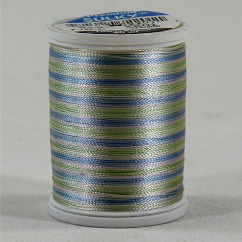 Sulky 40wt Rayon in Baby Blue/Pink/Mint, 850yd Spool