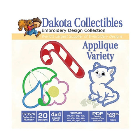 Dakota Collectibles Applique Variety Design