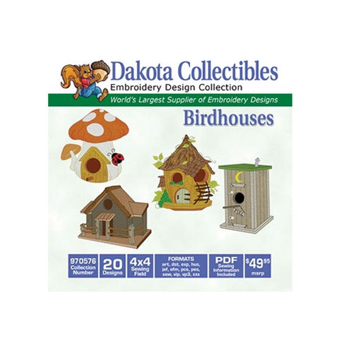 Dakota Collectibles Birdhouses Embroidery Design
