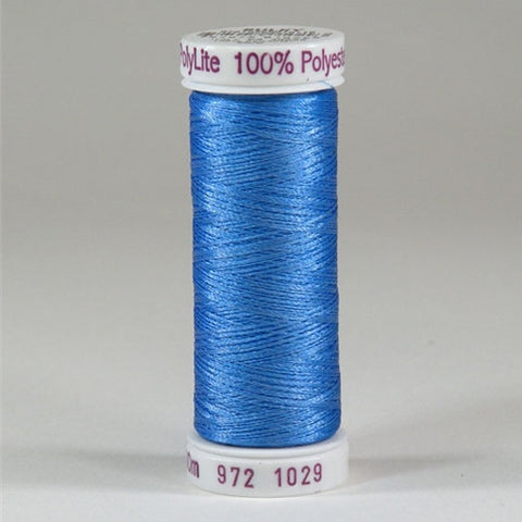 Sulky 60wt PolyLite in Medium Blue, 440yd Spool
