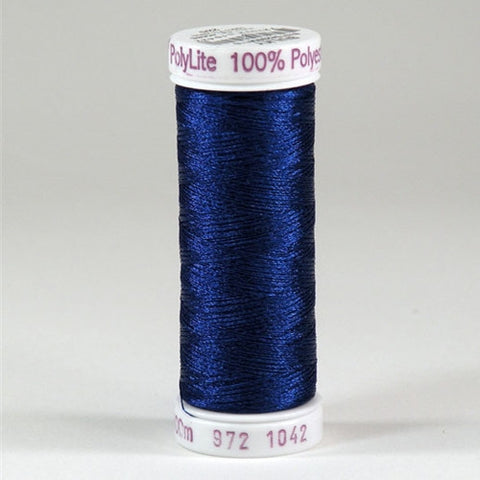 Sulky 60wt PolyLite in Bright Navy Blue, 440yd Spool