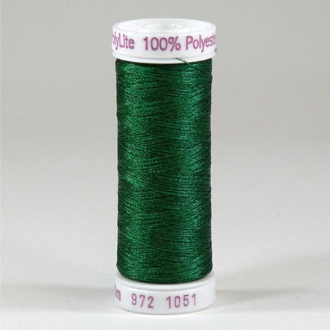 Sulky 60wt PolyLite in Christmas Green, 440yd Spool
