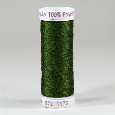 Sulky 60wt PolyLite in Med Dark Avocado, 440yd Spool