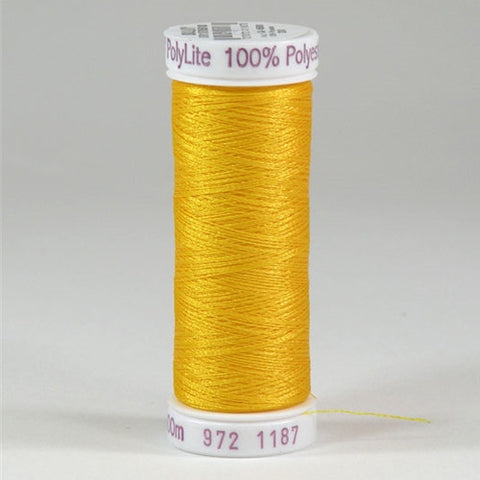 Sulky 60wt PolyLite in Mimosa Yellow, 440yd Spool
