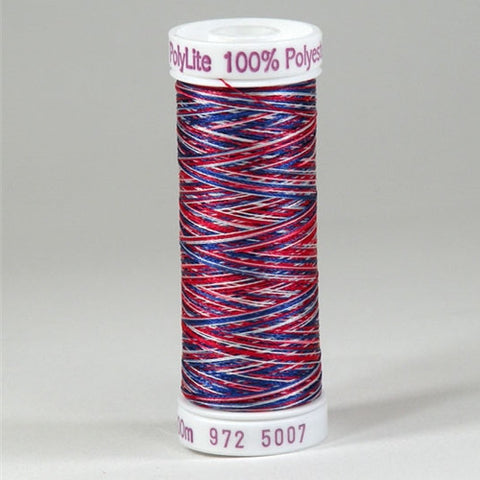 Sulky 60wt PolyLite in Multi-Color American Flag