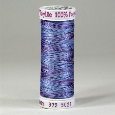 Sulky 60wt PolyLite in Multi-Color Blue Heather
