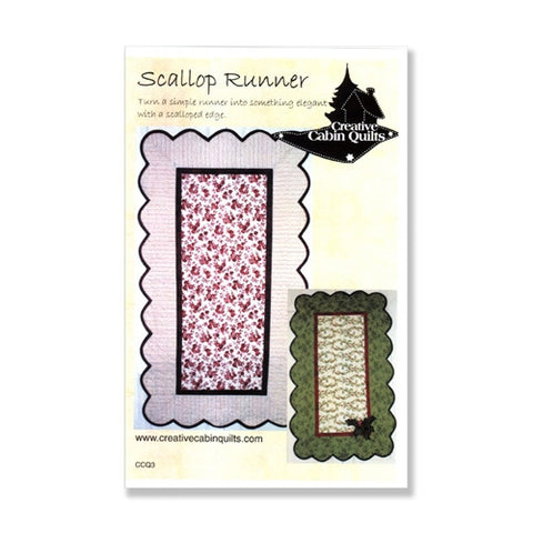 Scallop Runner by Creative Cabin Quilts
