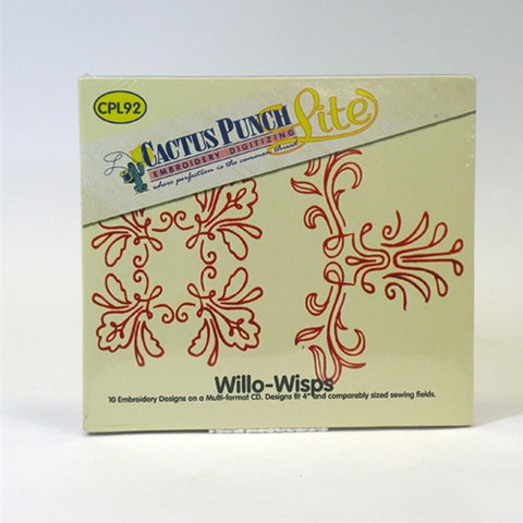 Willo-Wisps Embroidery CD by Cactus Punch