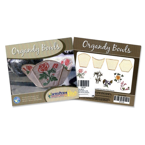 Organdy Bowls Embroidery CD by Cactus Punch