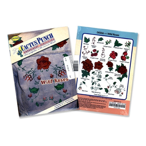 Wild Roses Embroidery CD by Cactus Punch