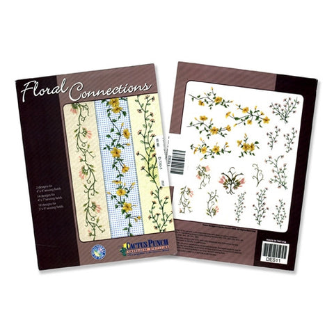Floral Connections Embroidery CD by Cactus Punch