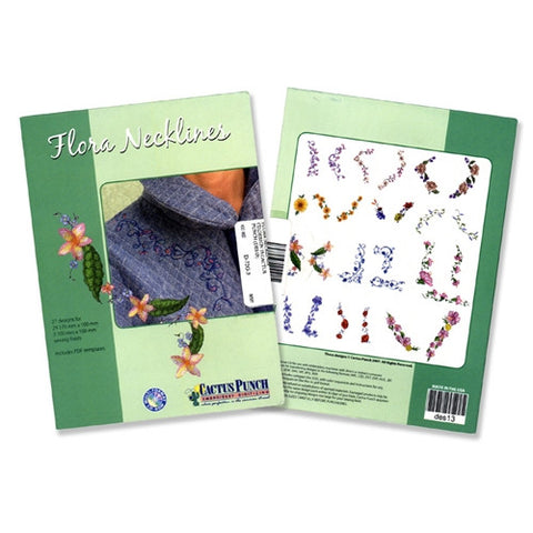 Flora Necklines Embroidery CD by Cactus Punch