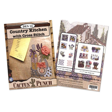 Country Kitchen with Cross Stitch CD by Cactus Punch
