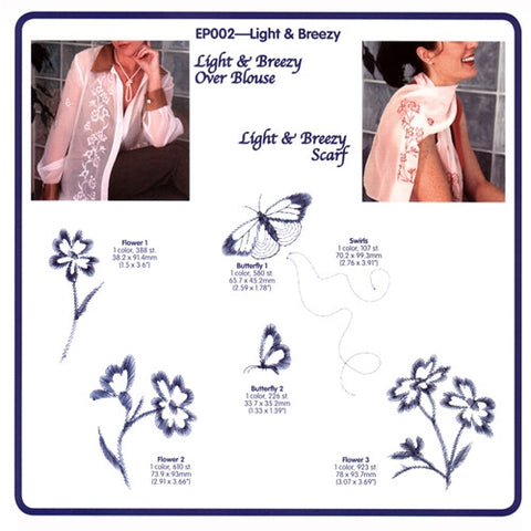 Light & Breezy Embroidery CD by Cactus Punch