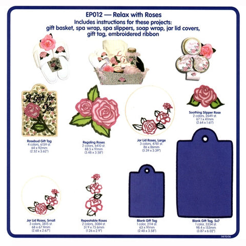 Relax with Roses Embroidery CD by Cactus Punch
