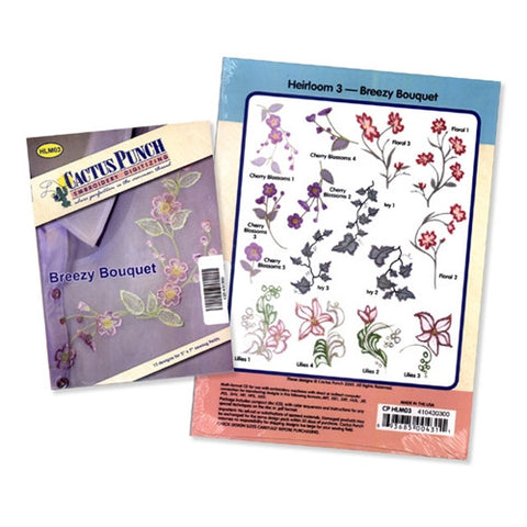Breezy Bouquet Embroidery CD by Cactus Punch