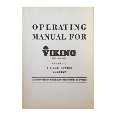 Instruction Book for Viking Class 20 Zig-Zag