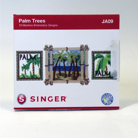 Palm Trees Embroidery CD by Singer