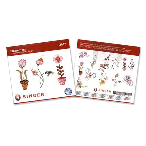 Flower Fun Embroidery CD by Singer