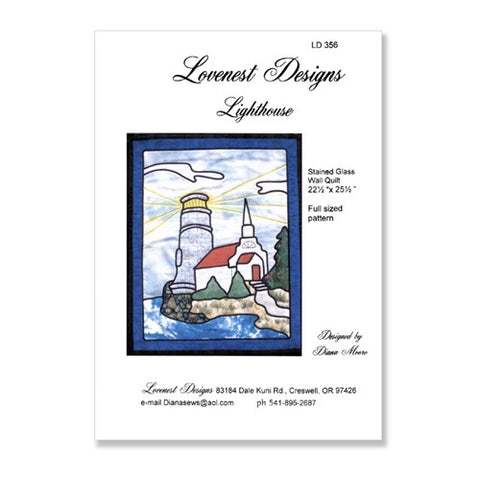 Lighthouse Stained Glass Quilt by Lovenest Designs