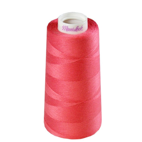 Maxilock Serger Thread in Pink Coral, 3000yd Spool