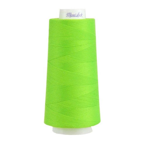 Maxilock Serger Thread in Neon Green, 3000yd Spool