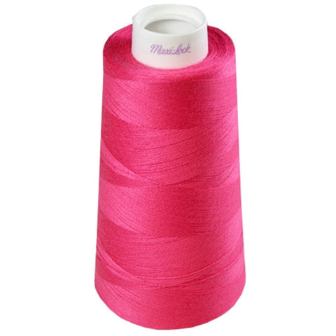 Maxilock Serger Thread in Dark Pink, 3000yd Spool