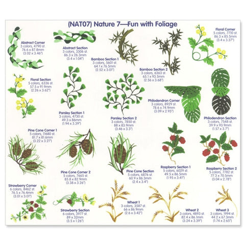Fun with Foliage Embroidery CD by Cactus Punch