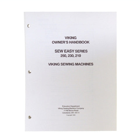 Owner Workbook Pages for Viking 250, 230, 210