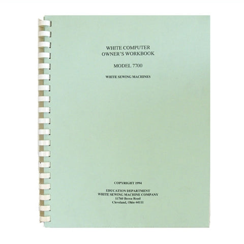 Owner Workbook Pages for Viking 350 & White 7700