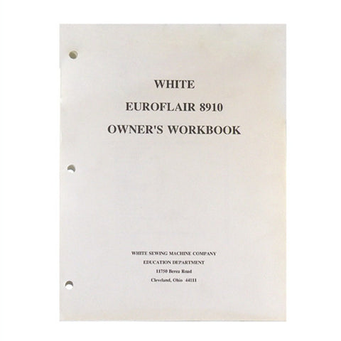 Owner Workbook Pages for White Euroflair 8910,8410