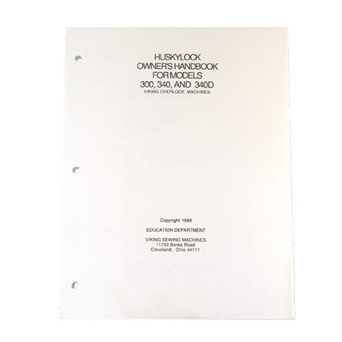 Owner Workbook Pages for Huskylock 340D